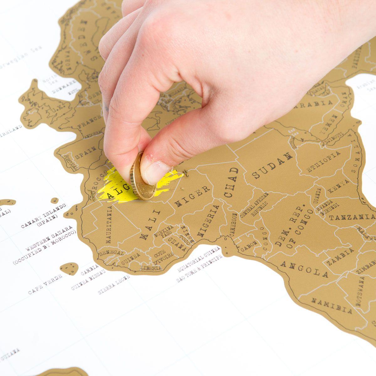 Cartina Mondo Gratta.Scratch Map La Mappa Del Mondo Da Grattare Troppotogo
