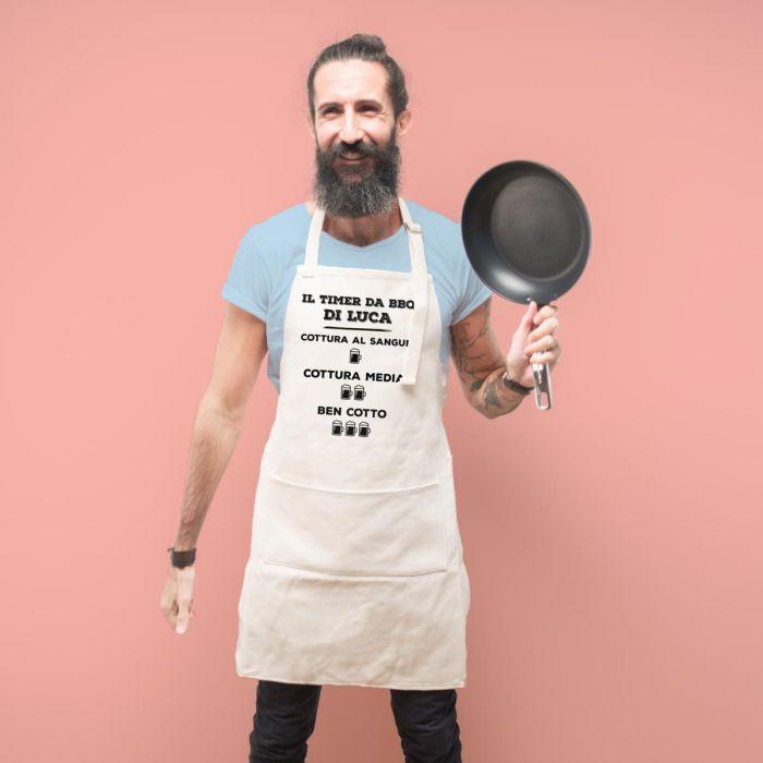 Grembiule da Cucina Personalizzabile con Timer da Barbecue