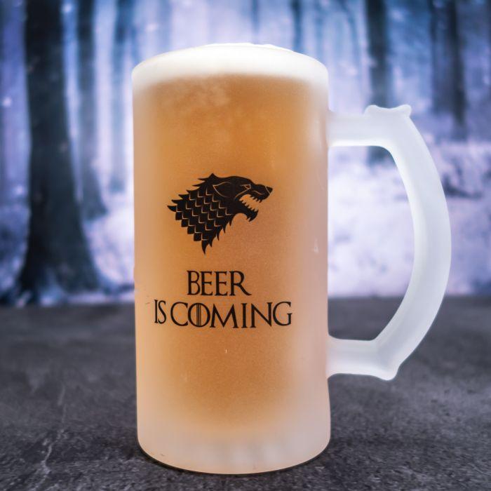 Boccale da birra personalizzabile con lupo
