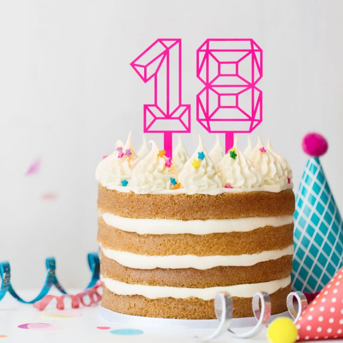 Cake Topper a forma di Numero