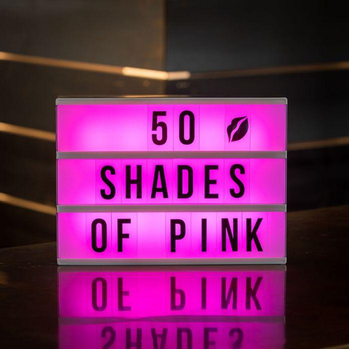 Tischleuchte Kino Leuchtreklame mit Farbwechsel