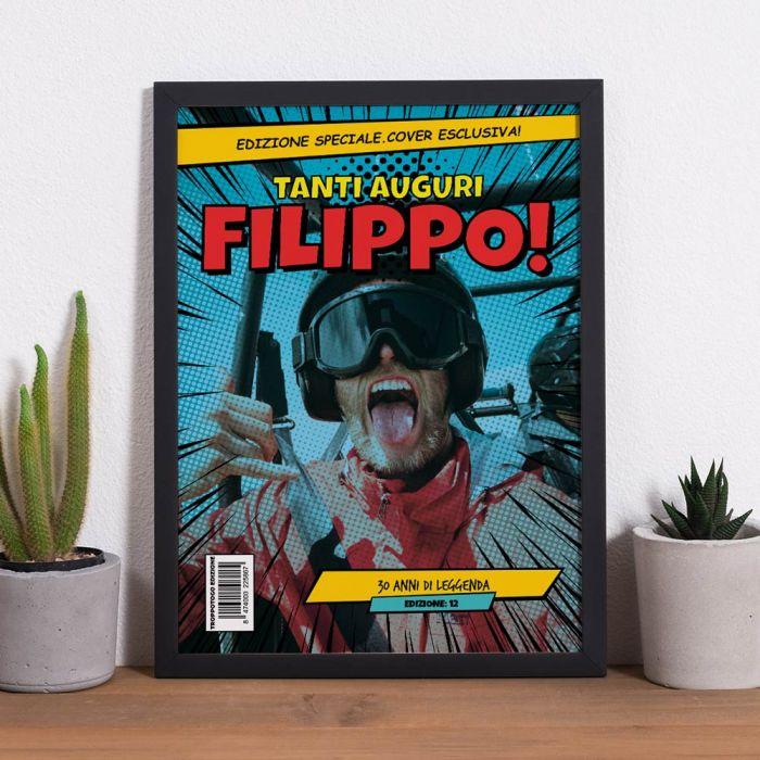 Poster Personalizzabile con testo e Immagine stile Fumetto