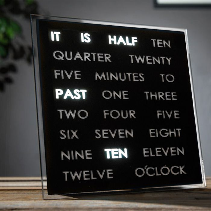 Orologio LED Word Clock - Inglese