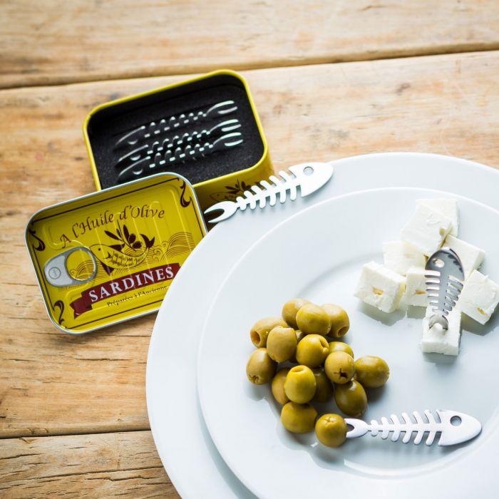 Set da 6 forchettine da aperitivo Sardine