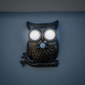 Owl Light – Luce da esterno a forma di gufo con sensore di movimento