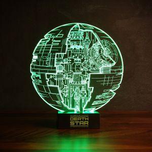 Lampada Star Wars Morte Nera con effetto 3D