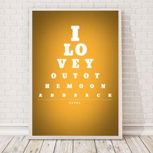 Tabella oculistica – poster personalizzabile