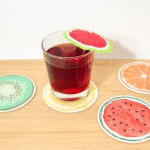 Sottobicchieri Alla Frutta – Set Da 4