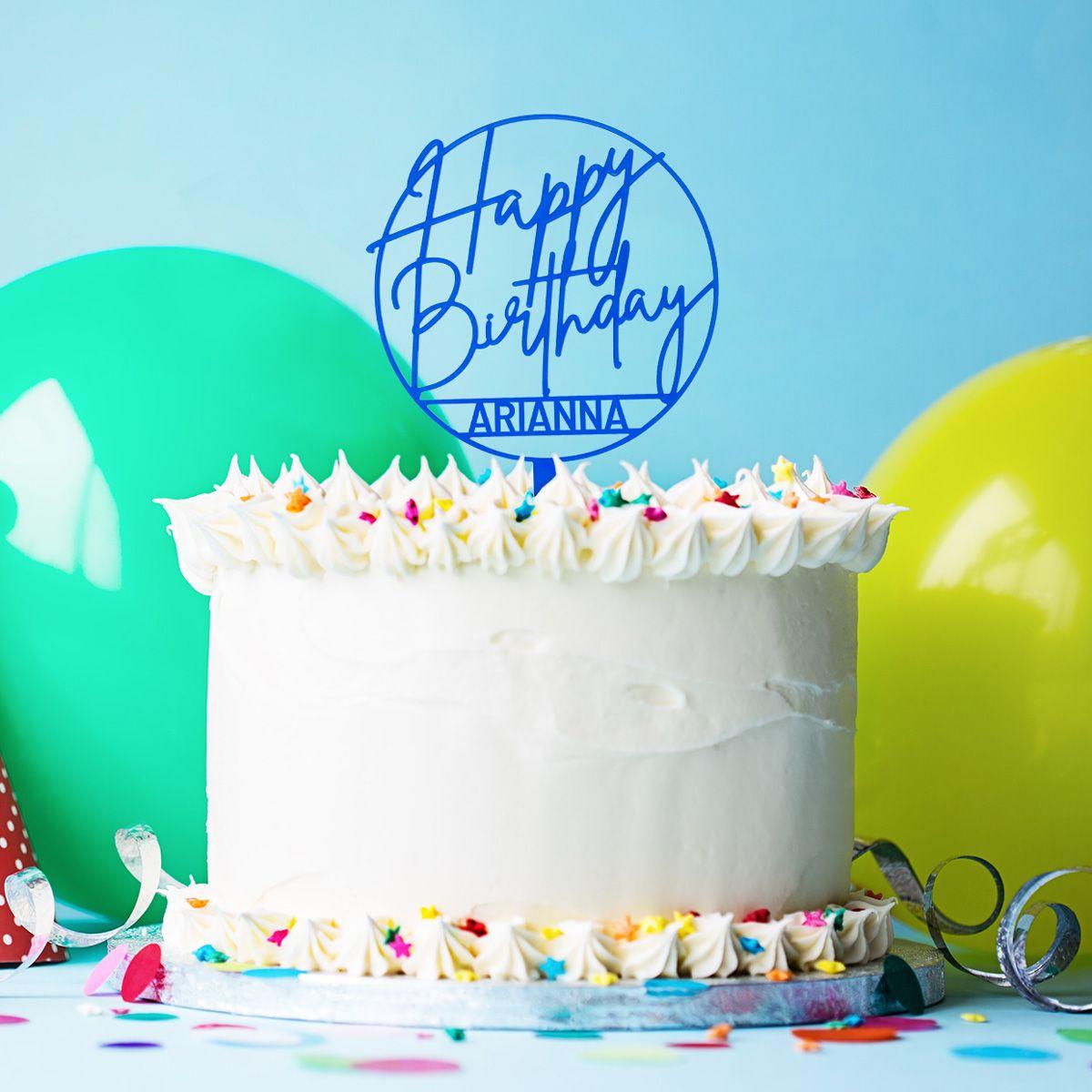Cake Topper Per Torta Di Compleanno Personalizzabile
