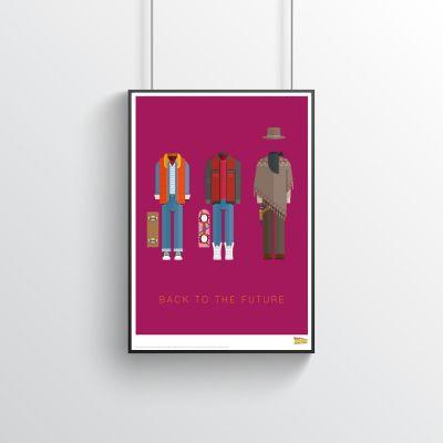 Cinema & Serie TV - Poster Costumi di Ritorno Al Futuro