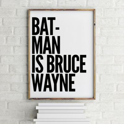 Poster - Batman Is Bruce Wayne Poster di MottosPrint