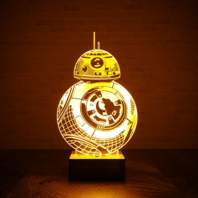 L'Universo Di Star Wars - Lampada BB-8 di Star Wars BB con effetto 3D