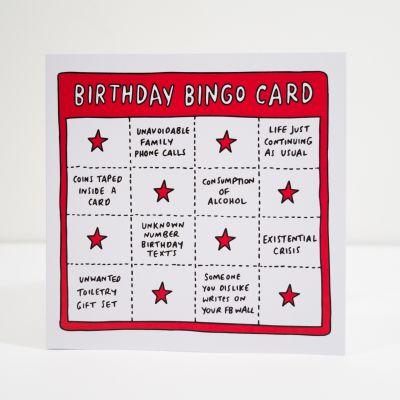 Biglietti di auguri - Biglietto di compleanno Birthday Bingo