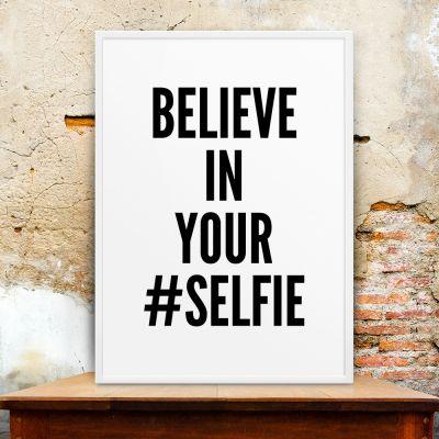 Idee regalo amico - Selfie Poster di MottosPrint