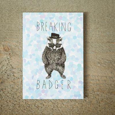 Biglietti di auguri - Biglietto D'Auguri Breaking Badger