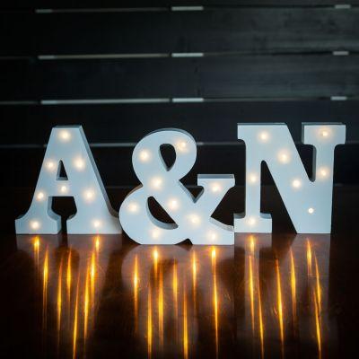 Regali per coppia - Lettere di Legno Luminose