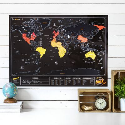 Regali per coppia - Mappa del Mondo da Grattare – Ardesia