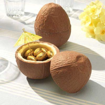 Regali per Pasqua - Noce di cocco al cioccolato con mini uova