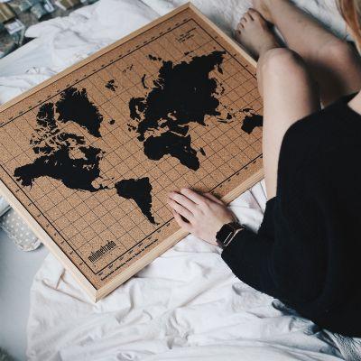 Idee regalo genitori - Mappa del Mondo in Sughero