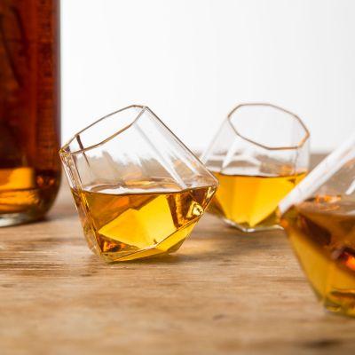 Regali di compleanno 40 anni - Bicchierini da liquore Diamante - Set da 4 Bicchieri