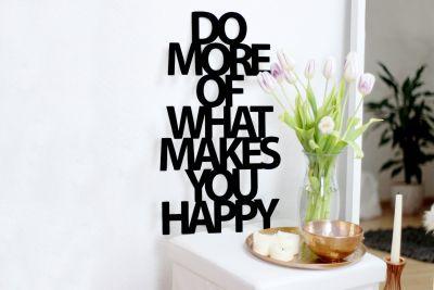 """Regali di Matrimonio - Scultura In Legno """"Do more of what makes you happy"""""""
