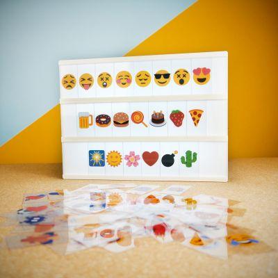 Illuminazione - Set di Emoticons per Lampada da tavolo Insegna Cinema
