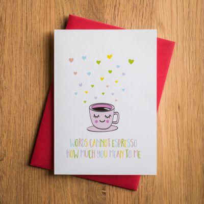 Regali San Valentino per Uomo - Biglietto di San Valentino - Espresso