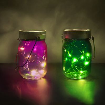 Regalo anniversario matrimonio - Luci in Barattolo Fairy Jars - set da 2