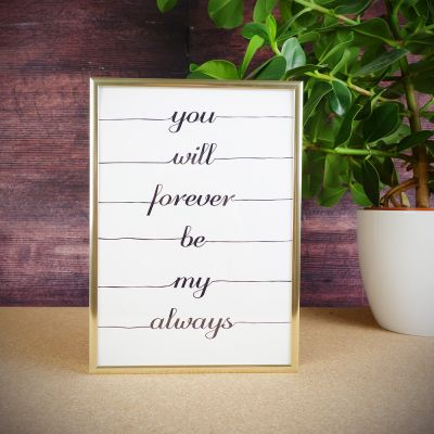 Regalo anniversario matrimonio - Poster Forever