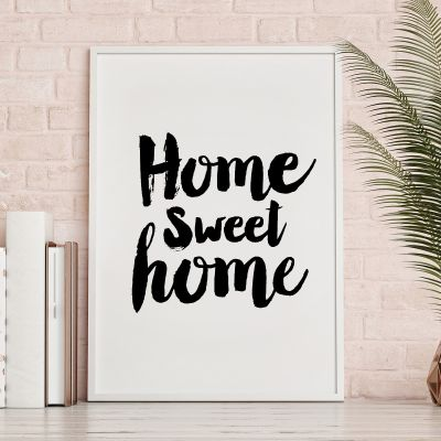 Poster à la carte - Home Sweet Home Poster di MottosPrint