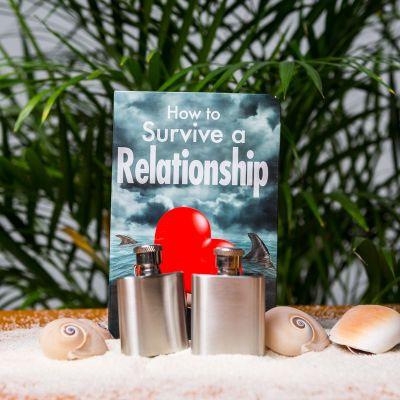 Regali per coppia - Set da 2 Fiaschette - come sopravvivere alla coppia