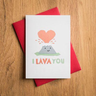 Regali romantici - Biglietto di San Valentino I Lava You