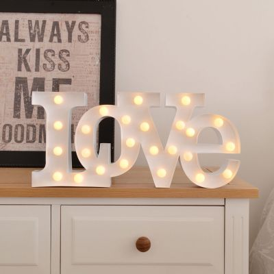 Regalo anniversario matrimonio - Lampada LED – Love