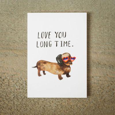 Biglietti di auguri - Biglietto D'Auguri Love You Long Time