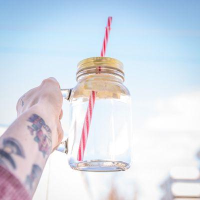 Tazze & Bicchieri - Barattoli in vetro con manico – set da 4
