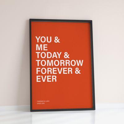 Regali per coppia - You + Me + … - Poster Personalizzabile