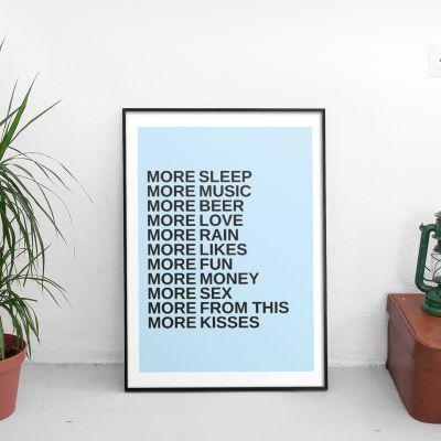 Prodotti esclusivi - More - Poster Personalizzabile