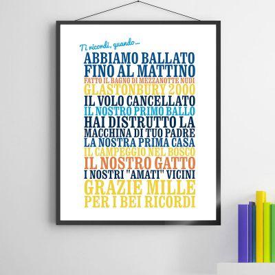 """Idee regalo genitori - Poster Personalizzato """"Ti ricordi, quando ..."""""""