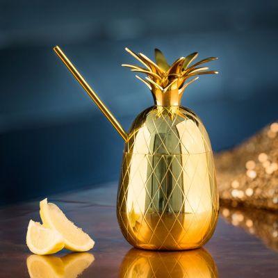 Regali romantici - Bicchiere da Cocktail di Metallo a forma di Ananas