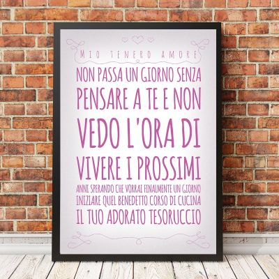 Idee regalo genitori - Poster Romantico Personalizzabile