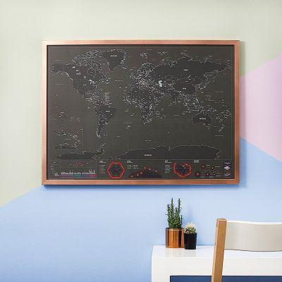 Idee regalo genitori - Mappa del mondo da grattare - Capitali