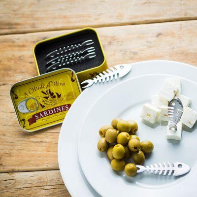 Regali di Natale per genitori - Set da 6 forchettine da aperitivo Sardine