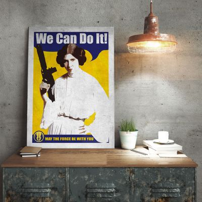 Poster - Poster di metallo Star Wars – Leia