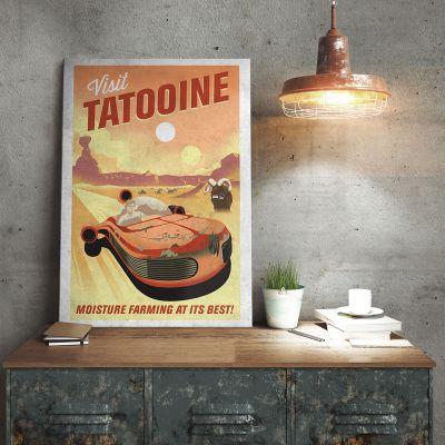 L'Universo Di Star Wars - Poster di Metallo Star Wars - Tatooine
