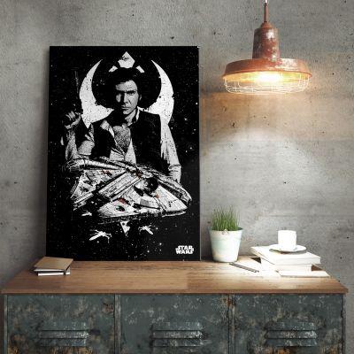 L'Universo Di Star Wars - Poster di metallo Star Wars – Han Solo