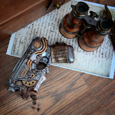 Saldi - Pistola Steampunk di Cioccolato