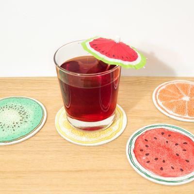 Cucina & Grill - Sottobicchieri Alla Frutta – Set Da 4
