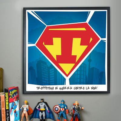 Idee regalo amico - Poster Superman Personalizzabile