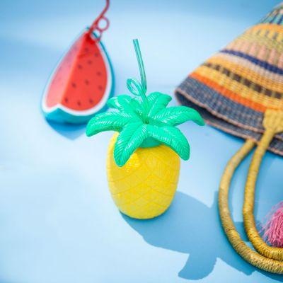 Outdoor - Bicchieri Frutta Tropicale - con cannuccia