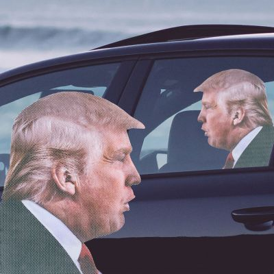 Idee regalo amico - Adesivo per Auto Trump